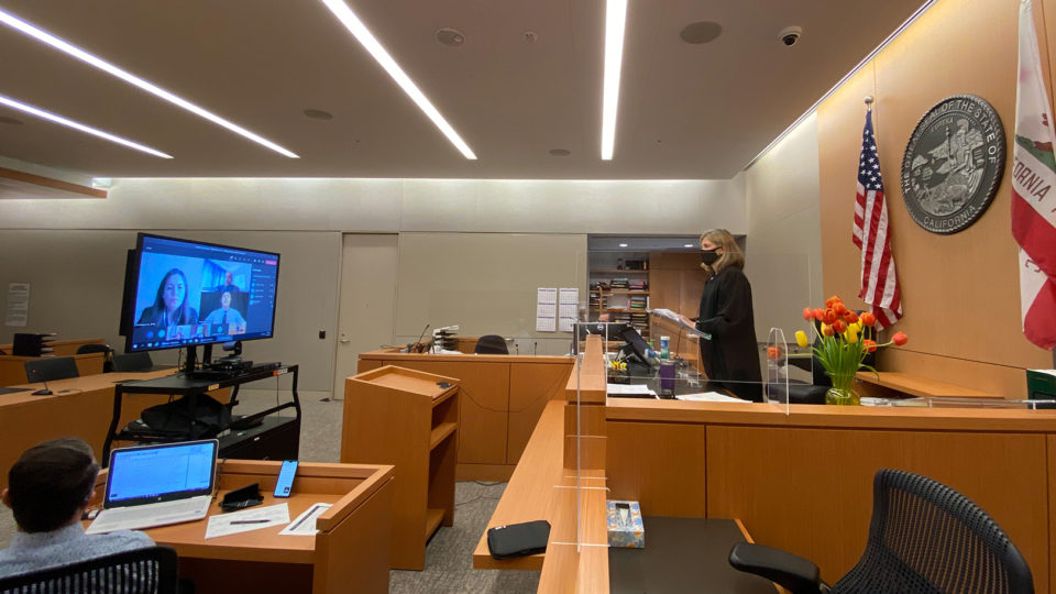 A photo of the Veterans Treatment Courtroom in San Diego