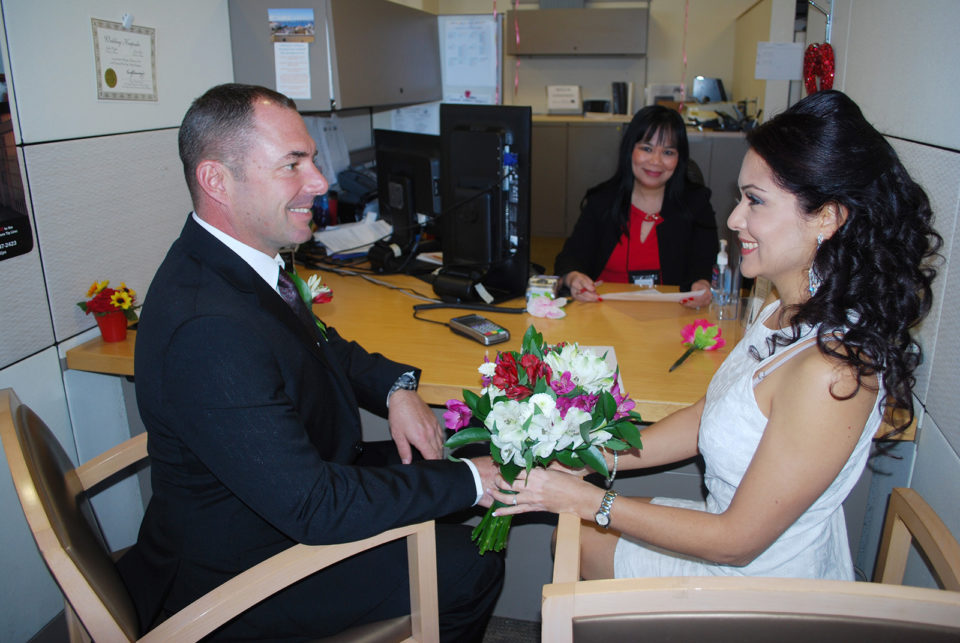 Jason and Darinka Viau  completed their paperwork and are all set to marry on Valentine's Day.