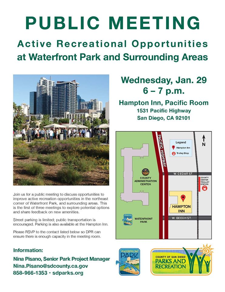 Public Meeting: Recreational Activities at the Waterfront Park