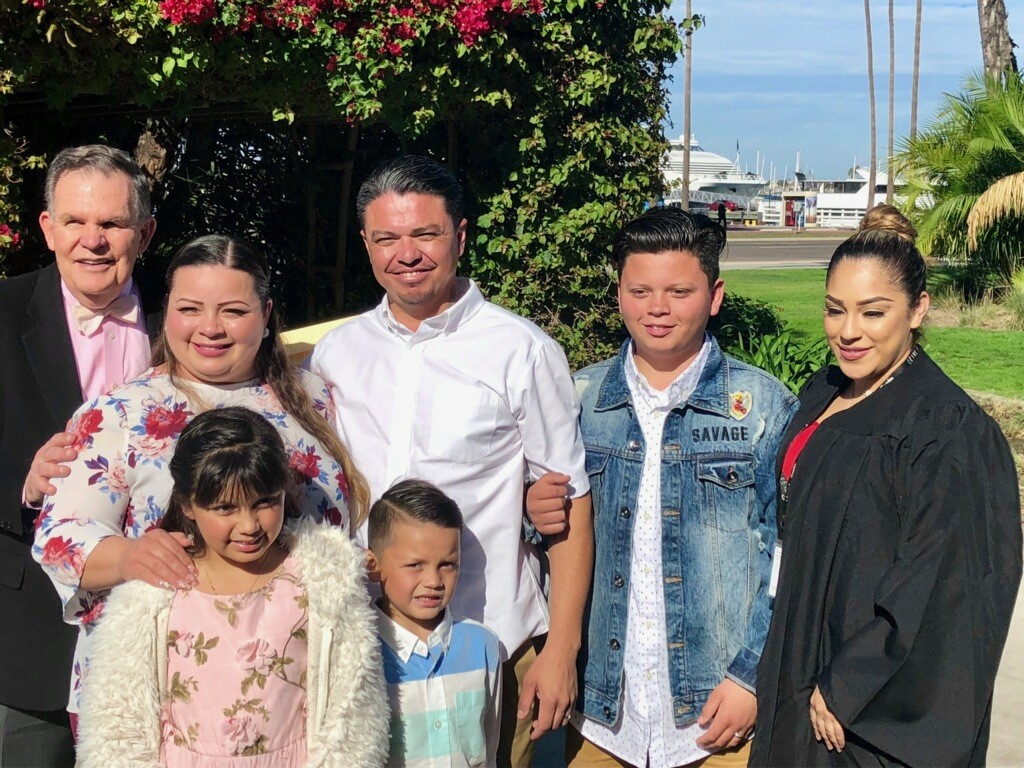 Abigain and Jaime Beltran were married by a family member on Valentine's Day.