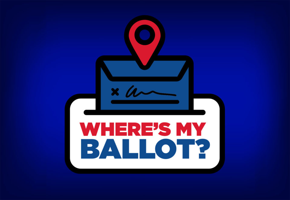Where is My Ballot graphic