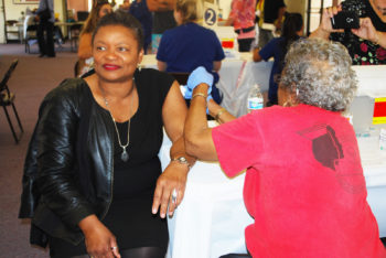 County Public Health Officer Wilma Wooten gets a flu shot every year.