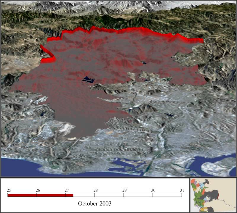 Animation Depicts Spread of Cedar Fire