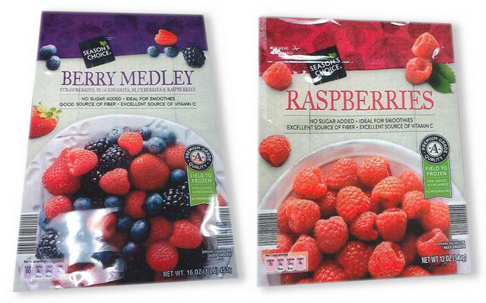 packages of berries
