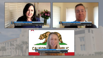 The three new supervisors on video conferencing