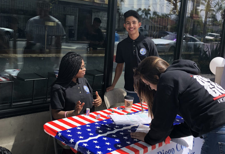 Public Defender Youth Council student members were out  this month encouraging young people and adults to register to vote.
