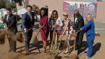 County officials shovel dirt