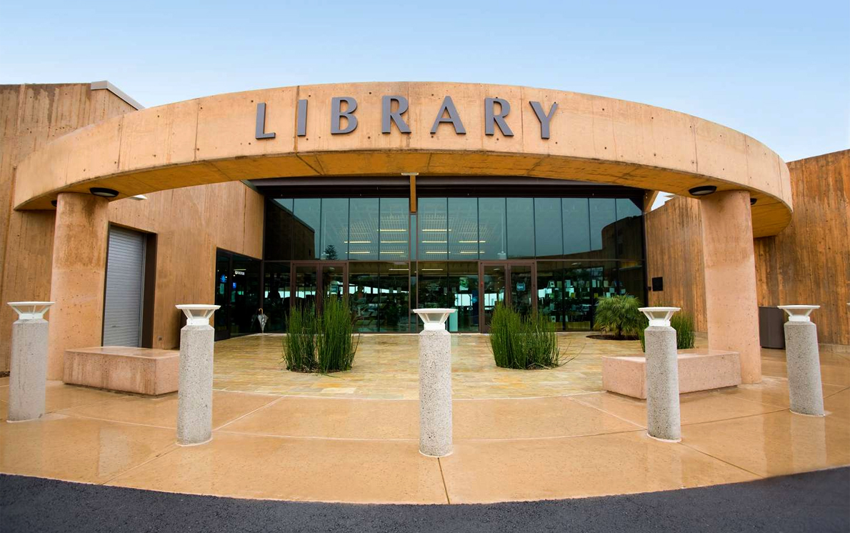 exterior of library