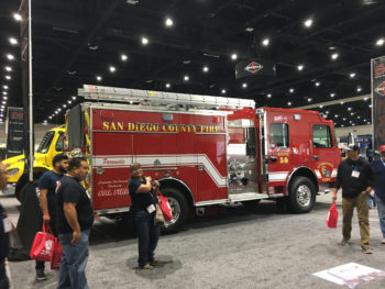 The manufacturer showcased the County's new structural fire protection engine at a recent Firehouse  World Expo.