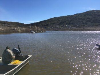 Lake Morena boat