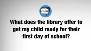 Library Help Kids Get Ready for Kindergarten