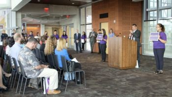 Officials and Community Members Come Together To Kick-Off Domestic Violence Awareness Month