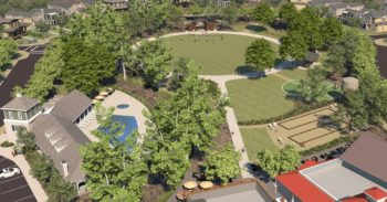 Artist's rendering of proposed Park Circle's public park in Valley Center.