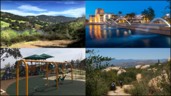 collage of four different parks