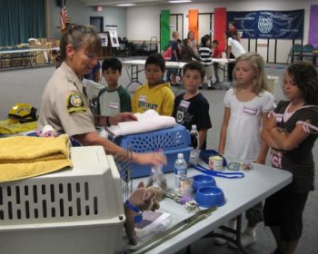 County Animal Services teaching pet preparedness.