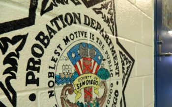 Probation Department Seal on a wall.