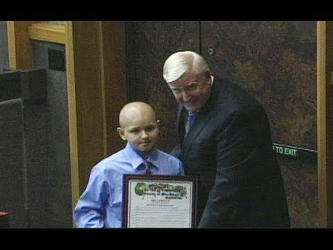 Proclamation Honors Young Patient's Generous Wish