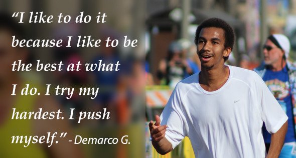 Demarco G., who is on Probation, finished 116th overall with a time of 1:43:01 in the Silver Strand Half Marathon.