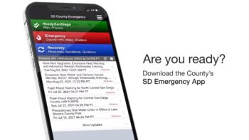 image of a phone with the SD Emergency app