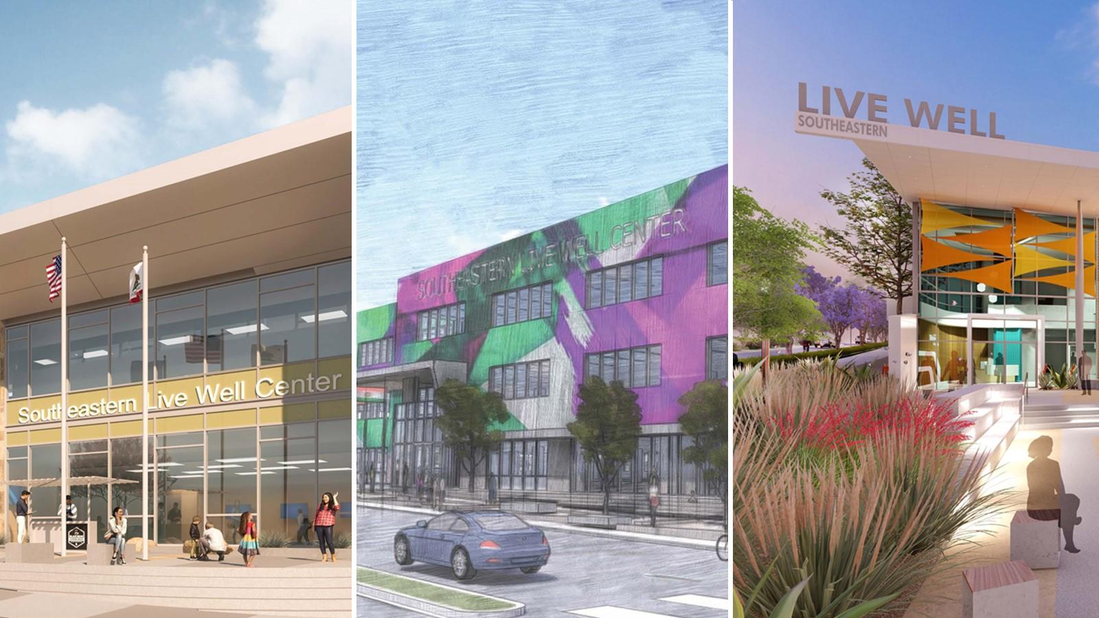Live Well Center renderings