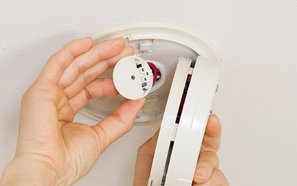 Test your smoke detector and switch out the batteries once a year.