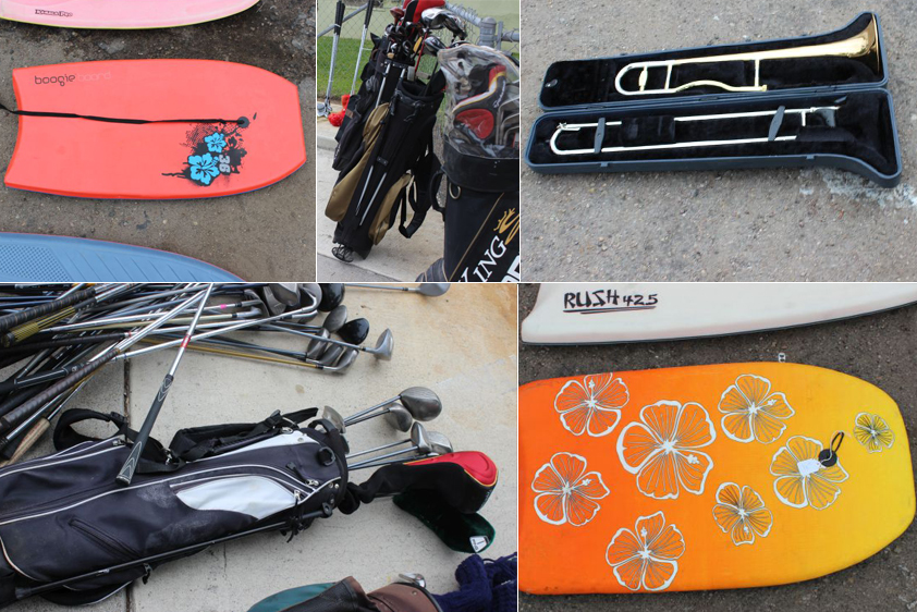 A sampling of stolen property waiting to be claimed.