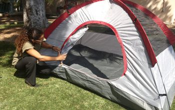 Here is one of the tents you could win if you are one of the first 400 people to sign up for AlertSanDiego and either download the SDCounty Emergency App or fill out a Family Disaster Plan as part of the County OES and Parks and Recreation Summer Preparedness Camp-aign.